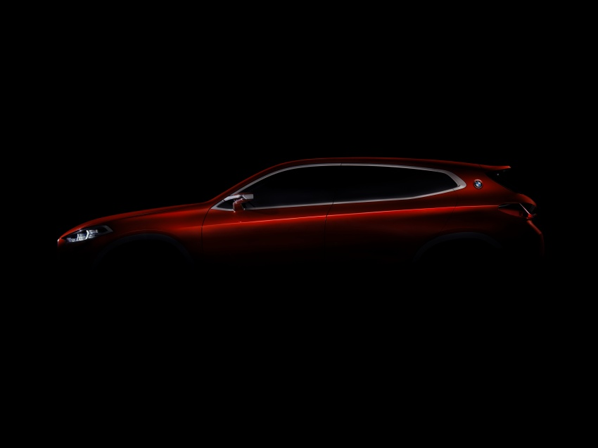 BMW Concept X2 unveiled in Paris – it's the 'X1 Coupe' Image #557030