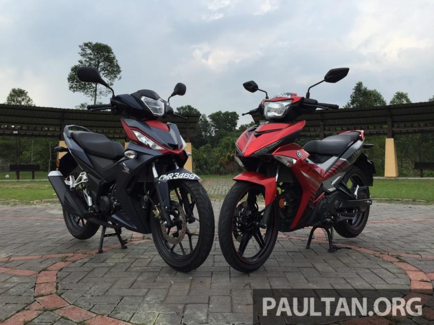 Honda RS150R vs Yamaha Y15ZR – Dua model terhangat bersemuka dalam segmen kapcai sports Image #549503