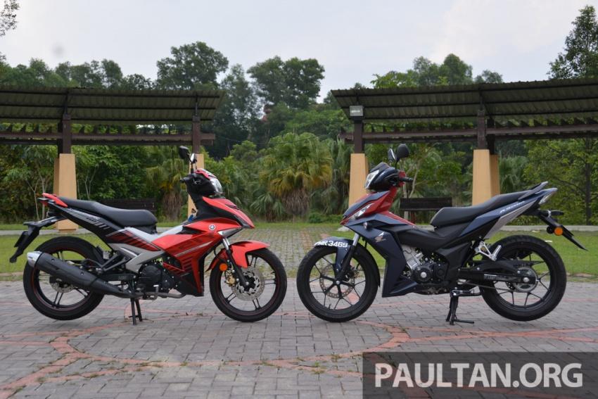 Honda RS150R vs Yamaha Y15ZR – Dua model terhangat bersemuka dalam segmen kapcai sports Image #549570
