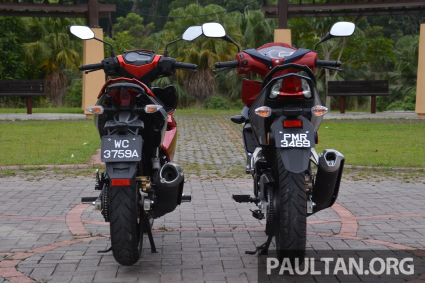 Honda RS150R vs Yamaha Y15ZR – Dua model terhangat bersemuka dalam segmen kapcai sports Image #549572