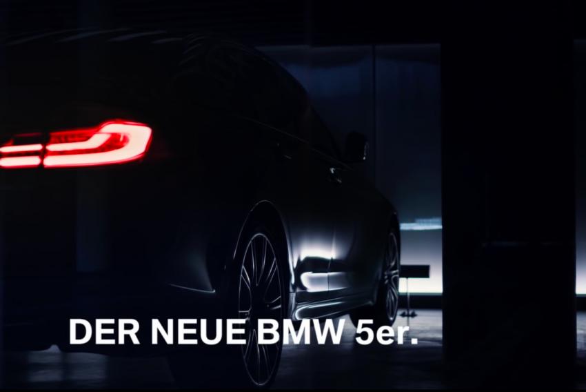 VIDEO: G30 BMW 5 Series teased ahead of Paris debut Image #547373