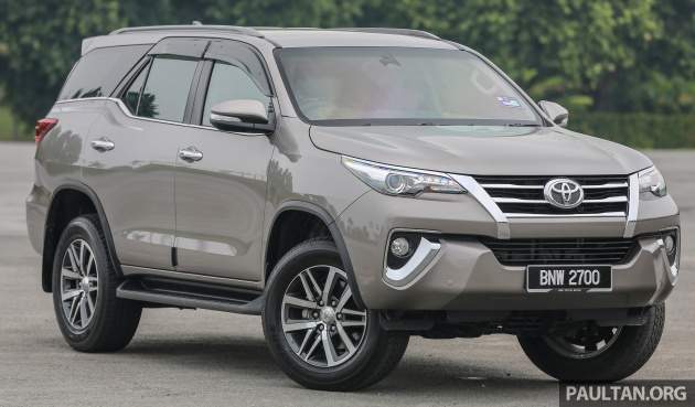 Toyota Fortuner gets EEV status, up to RM16k cheaper