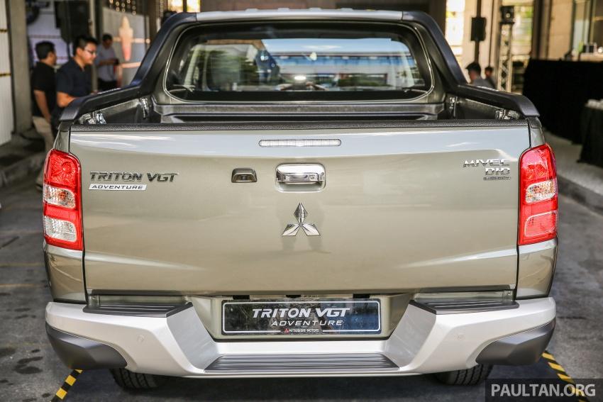 Mitsubishi Triton VGT dipertingkat dilancarkan- 2.4L MIVEC Turbodiesel, 181 PS/430 Nm, varian X baharu Image #544969