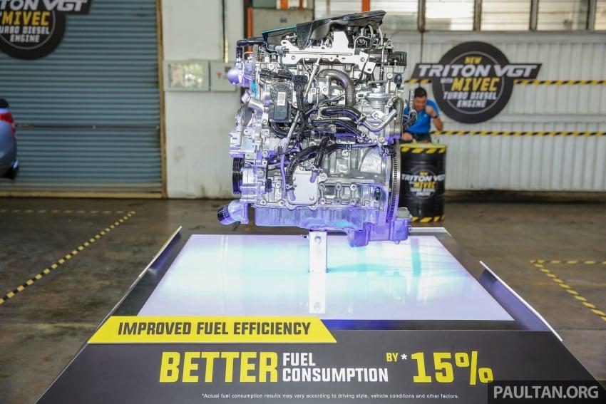 Mitsubishi Triton VGT dipertingkat dilancarkan- 2.4L MIVEC Turbodiesel, 181 PS/430 Nm, varian X baharu Image #544994