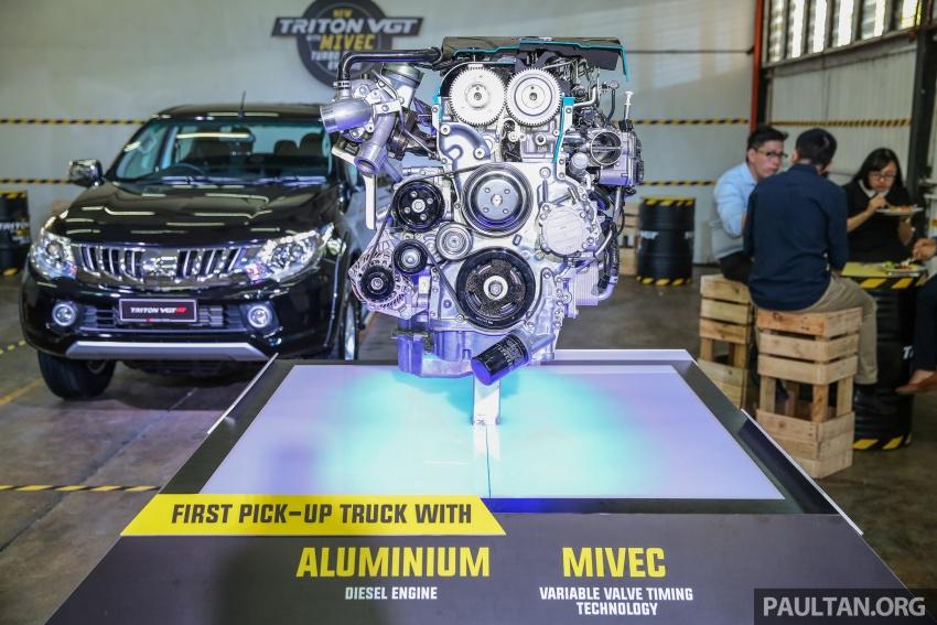 Mitsubishi Triton VGT dipertingkat dilancarkan- 2.4L MIVEC Turbodiesel, 181 PS/430 Nm, varian X baharu Image #544995