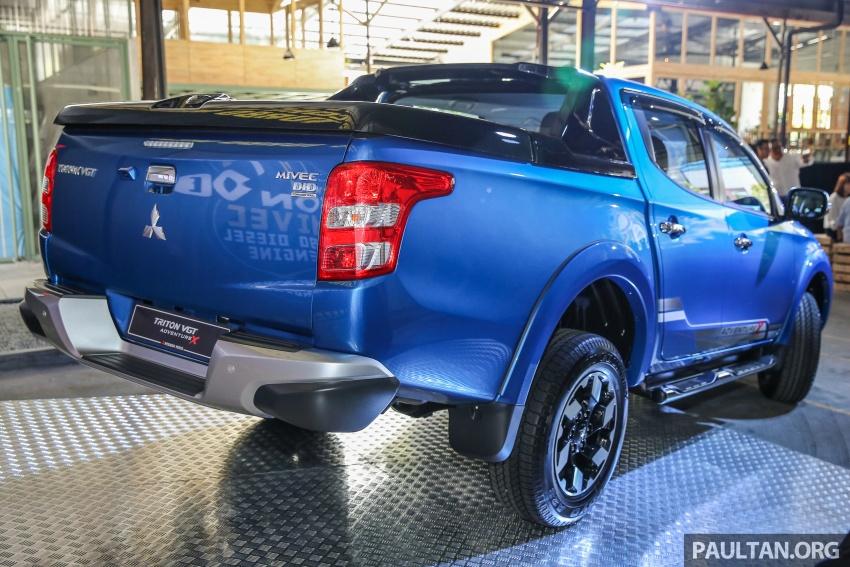 Mitsubishi Triton VGT dipertingkat dilancarkan- 2.4L MIVEC Turbodiesel, 181 PS/430 Nm, varian X baharu Image #544759
