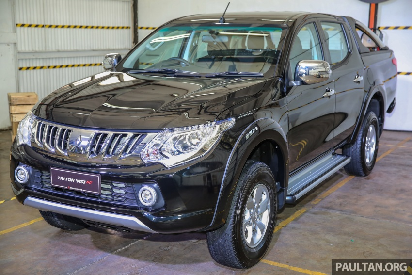 Mitsubishi Triton VGT dipertingkat dilancarkan- 2.4L MIVEC Turbodiesel, 181 PS/430 Nm, varian X baharu Image #544980