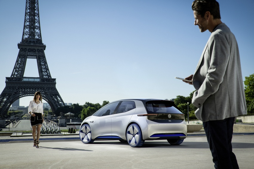 Volkswagen I.D. concept previews new electric vehicle – 600 km range, on sale in 2020, autonomous in 2025 Image #557211