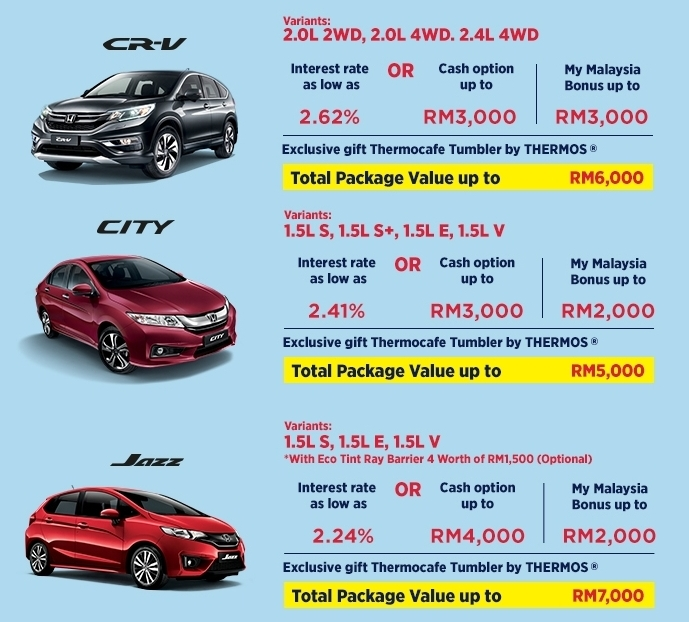 honda malaysia celebrate harmony promo interest rates as low as 2 24 or cash rebate of up to