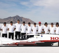 Engineers from Honda R&D in Japan posted a new FIA Land Speed Record and broke the speed record for a Honda-powered automobile last week in Bonneville, Utah.