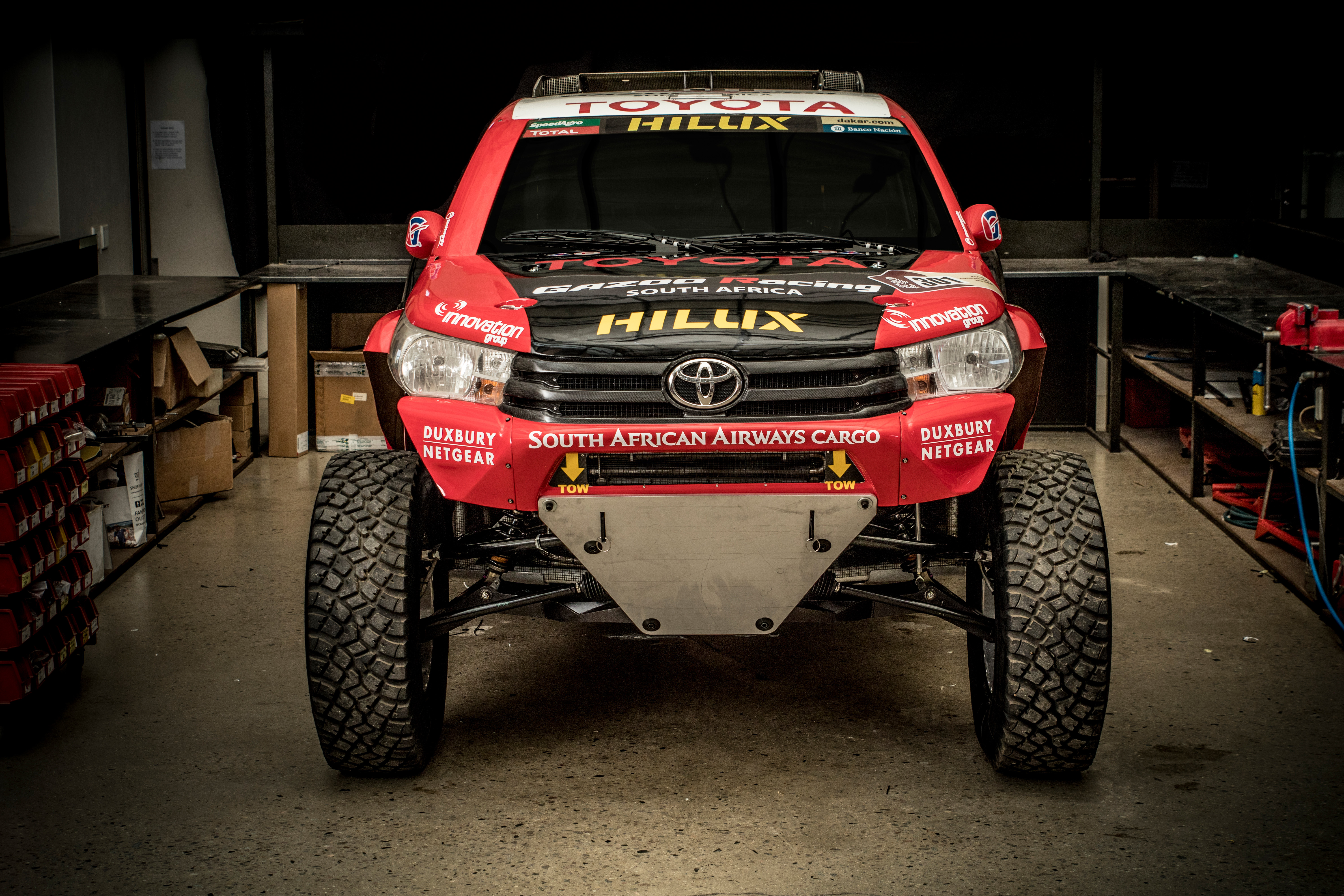 toyota gazoo racing unveil 2017 dakar rally hilux evo racer 5 0 litre v8 engine 940 mm wheels. Black Bedroom Furniture Sets. Home Design Ideas