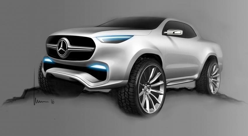 Pikap konsep Mercedes-Benz X-Class didedahkan Image #569248
