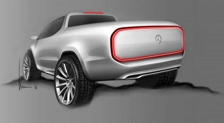 Pikap konsep Mercedes-Benz X-Class didedahkan Image #569247