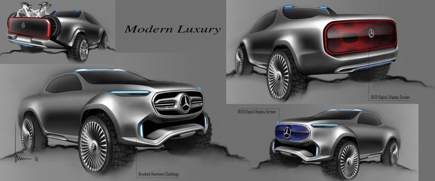 Pikap konsep Mercedes-Benz X-Class didedahkan Image #569246