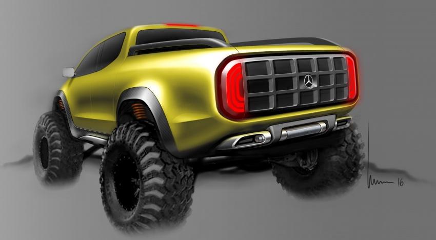 Pikap konsep Mercedes-Benz X-Class didedahkan Image #569244