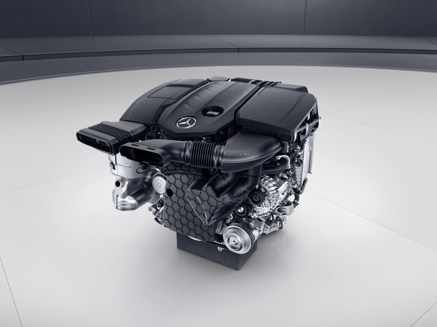 Mercedes-Benz reveals first details of new engine family – 48V, mild hybrid and electric turbo Image #571685
