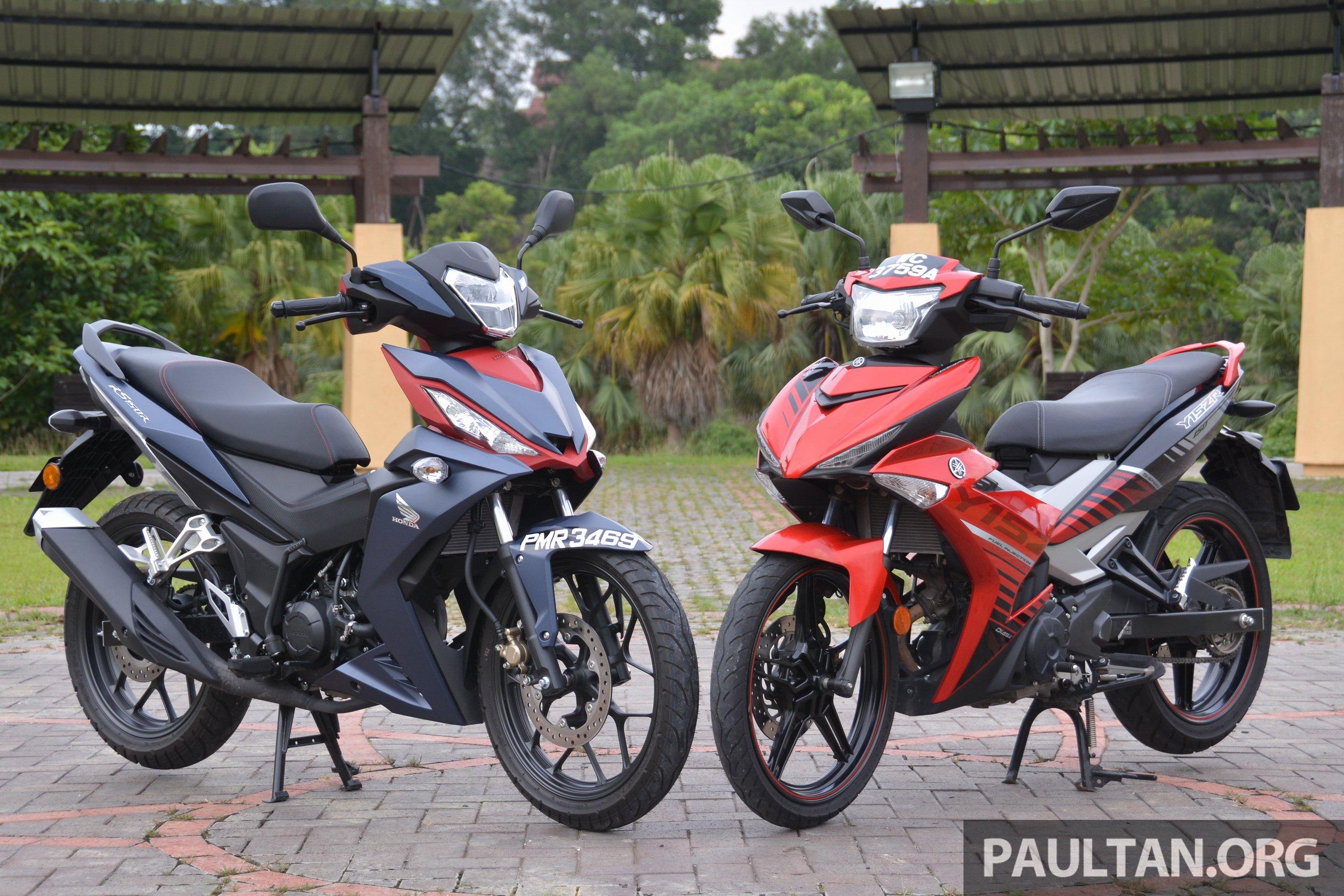 Honda RS150R vs Yamaha Y15ZR – supercub comparo Paul Tan ...