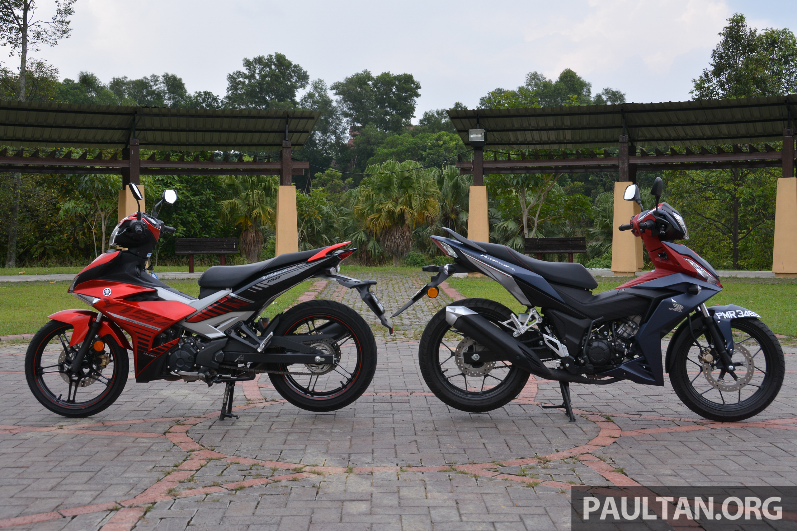 honda rs150r vs yamaha y15zr supercub comparo image 571437