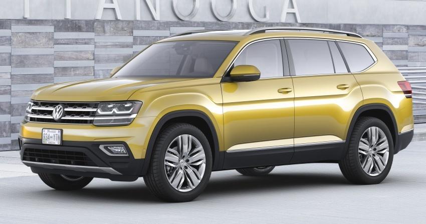 Volkswagen Atlas muncul – SUV MQB 7 tempat duduk Image #571006