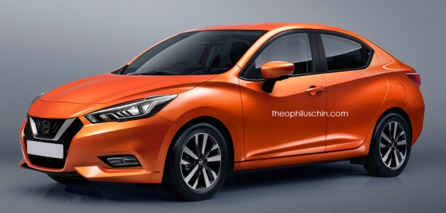 Next Nissan Almera Rendered Based On New March