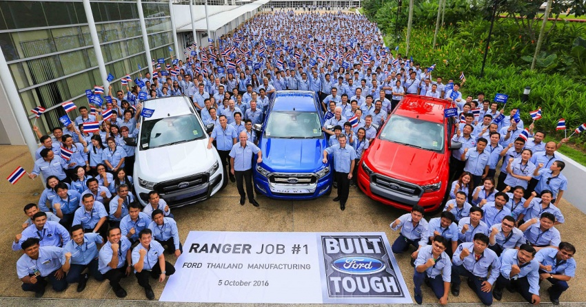 2016 Ford Ranger >> Ford Thailand Manufacturing starts Ranger production Image 560839