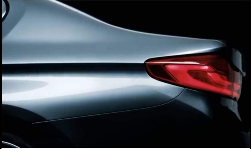 G30 BMW 5 Series teased yet again, shows rear end Image #562207