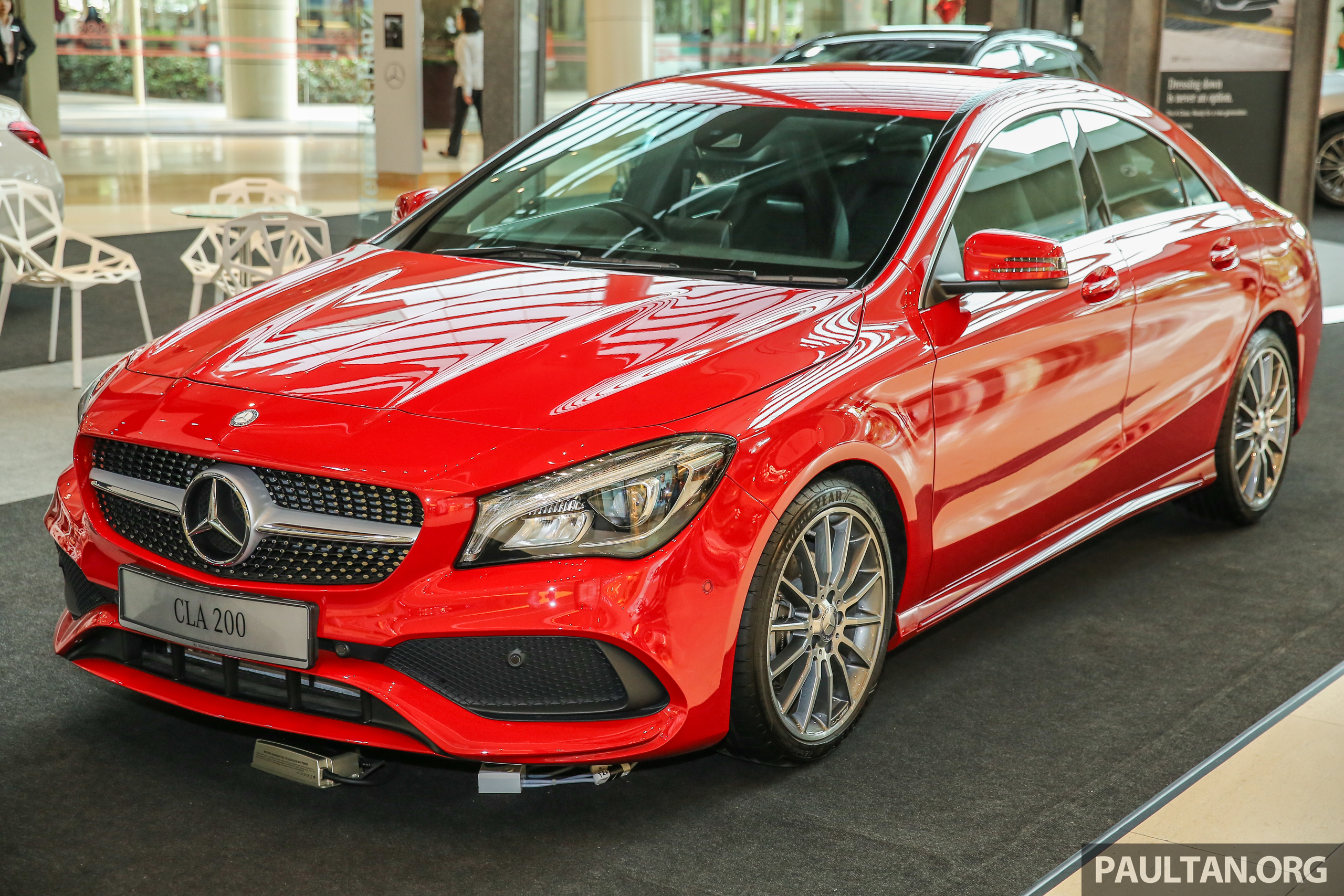 gallery mercedes benz cla200 facelift now amg. Black Bedroom Furniture Sets. Home Design Ideas