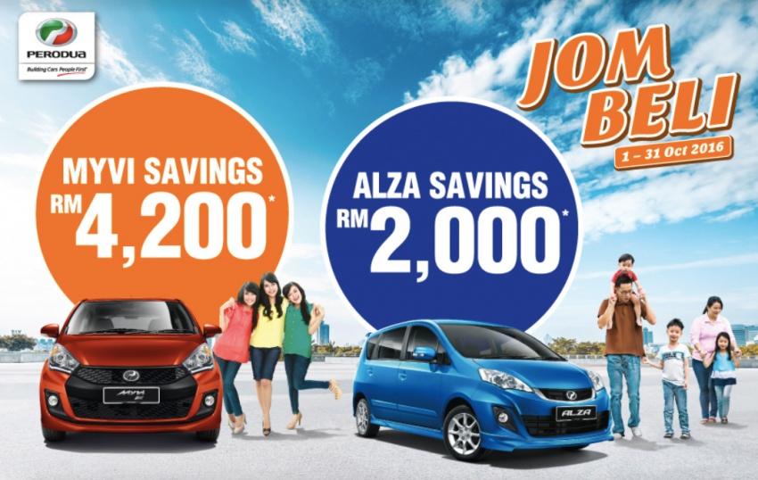 Perodua 'Jom Beli' Myvi/Alza promo, up to RM4,200 off Image #558675