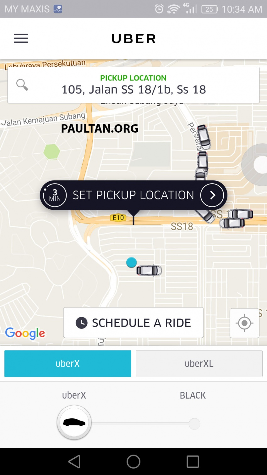UberX in KL now shows riders fares upfront for clarity Image #564988