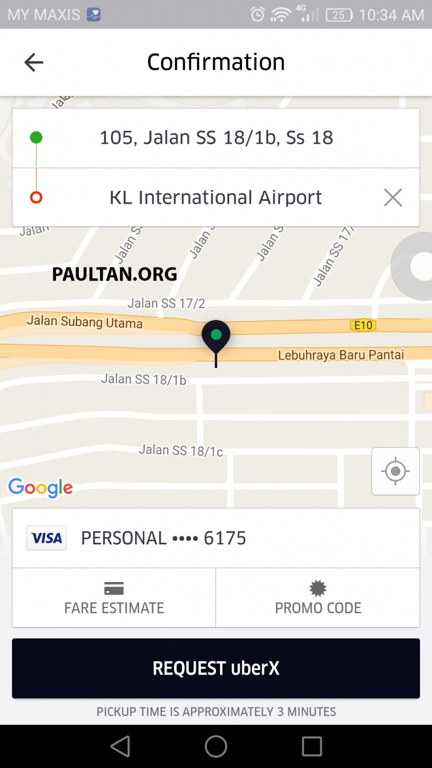 UberX in KL now shows riders fares upfront for clarity Image #564987