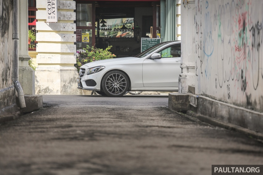 DRIVEN: W205 Mercedes-Benz C300 AMG Line road trip to Penang – setting new compact executive rules Image #560405