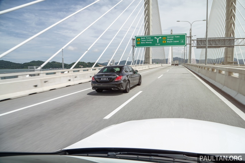 DRIVEN: W205 Mercedes-Benz C300 AMG Line road trip to Penang – setting new compact executive rules Image #560394