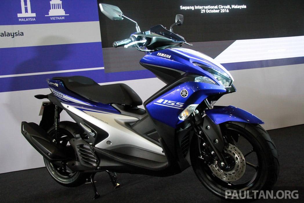 Harga Yamaha NVX atau Aerox 155 sudah keluar di Indonesia - lebih murah berbanding NMax tanpa ABS