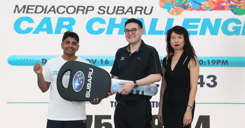 Mediacorp Subaru Car Challenge