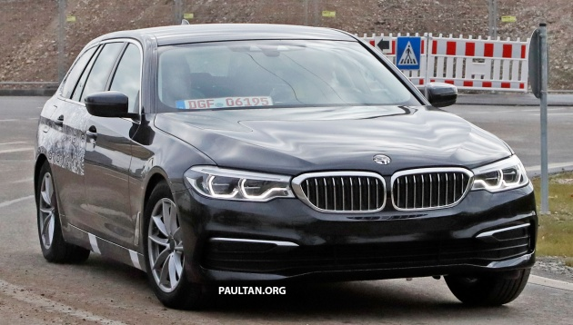 SPIED: G31 BMW 5 Series Touring with less camo