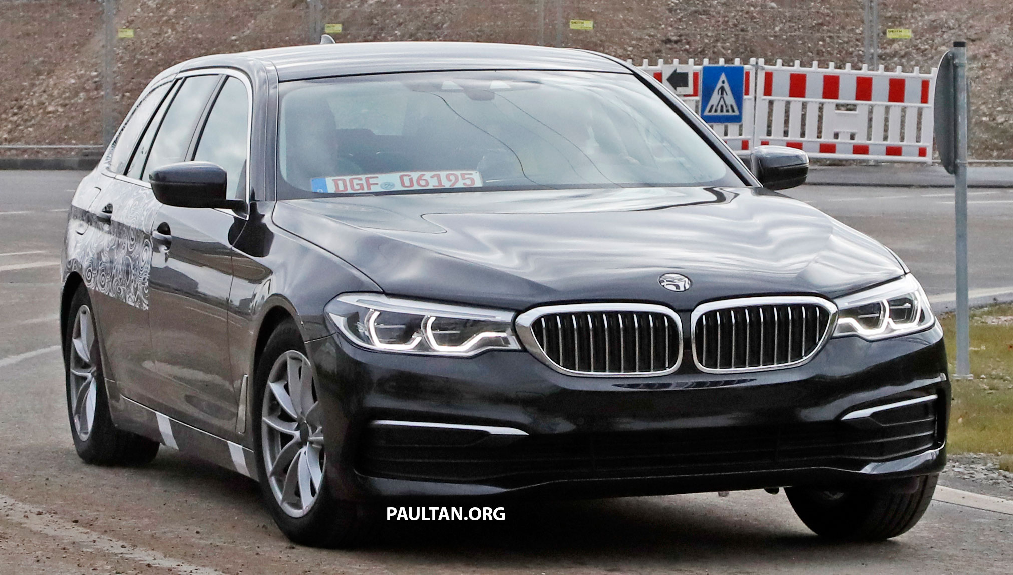 spied g31 bmw 5 series touring with less camo. Black Bedroom Furniture Sets. Home Design Ideas