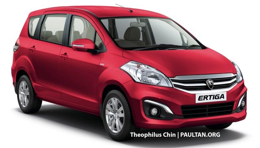 New Proton Ertiga MPV details revealed – a rebadged Suzuki, 1.4 litre MT/AT, EEV, four-star ASEAN NCAP Image #582127