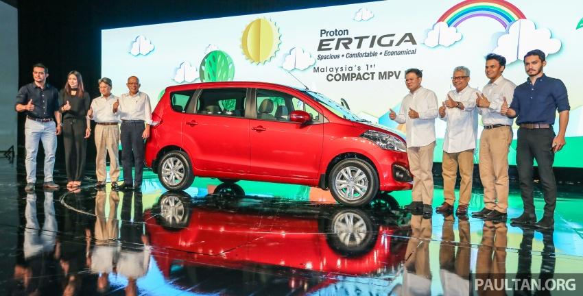 Proton Ertiga MPV launched in Malaysia – RM59k-65k Image #584040