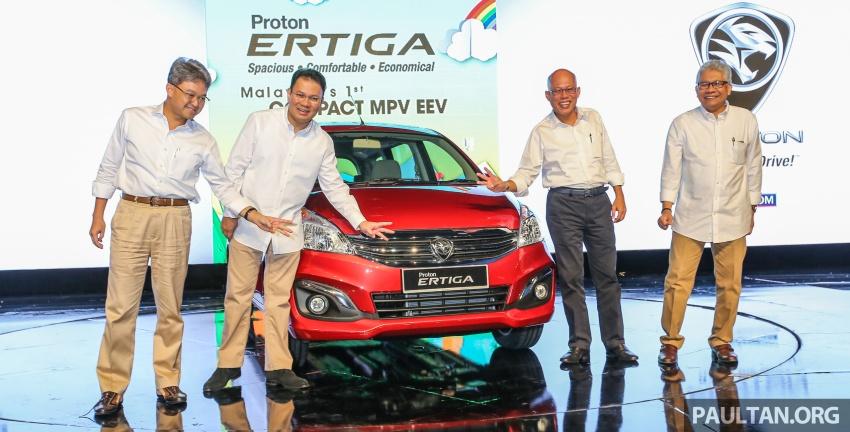 Proton Ertiga MPV launched in Malaysia – RM59k-65k Image #584041