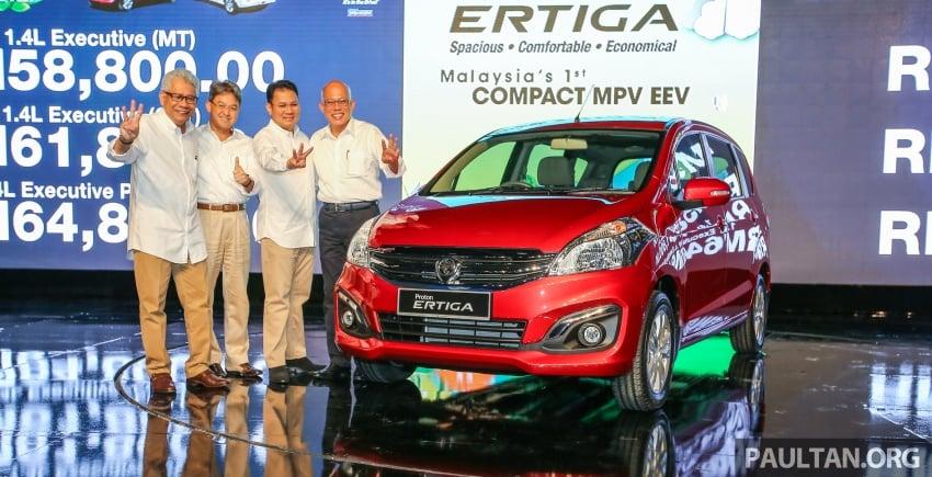 Proton Ertiga MPV launched in Malaysia – RM59k-65k Image #584042