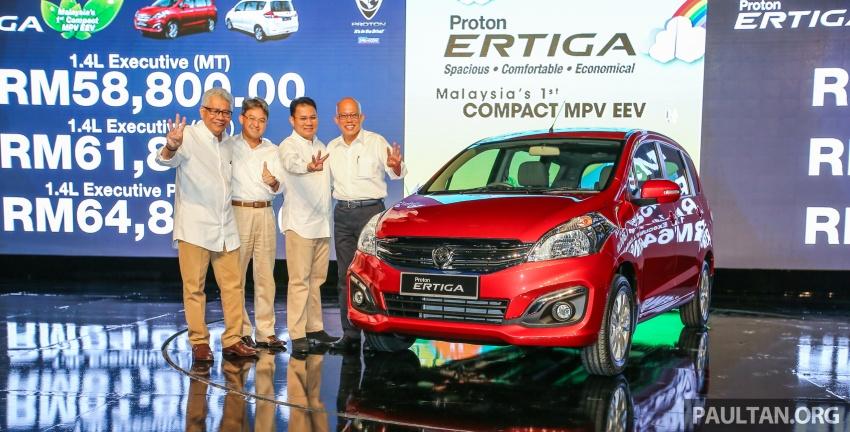 MPV Proton Ertiga dilancarkan – enam-tempat duduk, 1.4 liter VVT, harga bermula RM58,800 – RM64,800 Image #584038