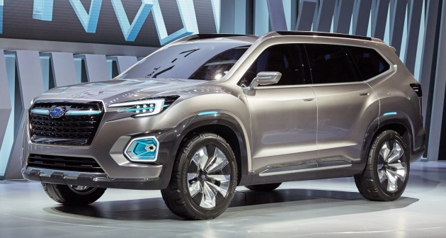 subaru viziv 7 concept debuts seven seater suv. Black Bedroom Furniture Sets. Home Design Ideas