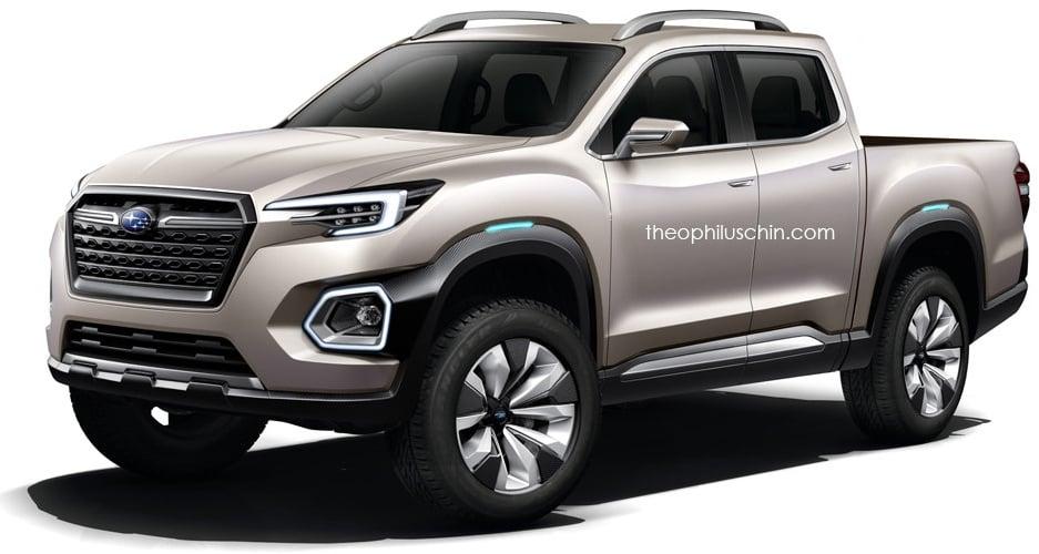 Subaru pick-up rendered, based on Viziv-7 concept Image 583301
