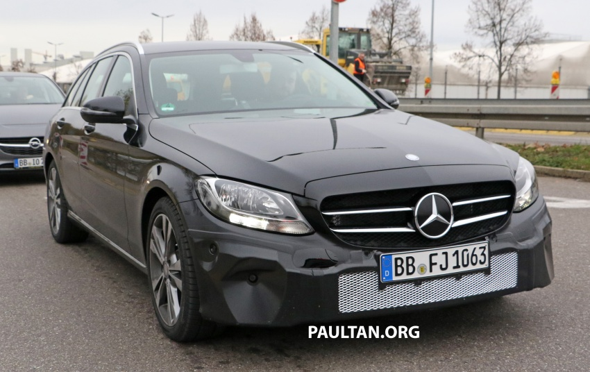 SPIED: W205 Mercedes C-Class facelift – interior seen Image #585274