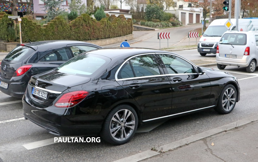 SPIED: W205 Mercedes C-Class facelift – interior seen Image #585284