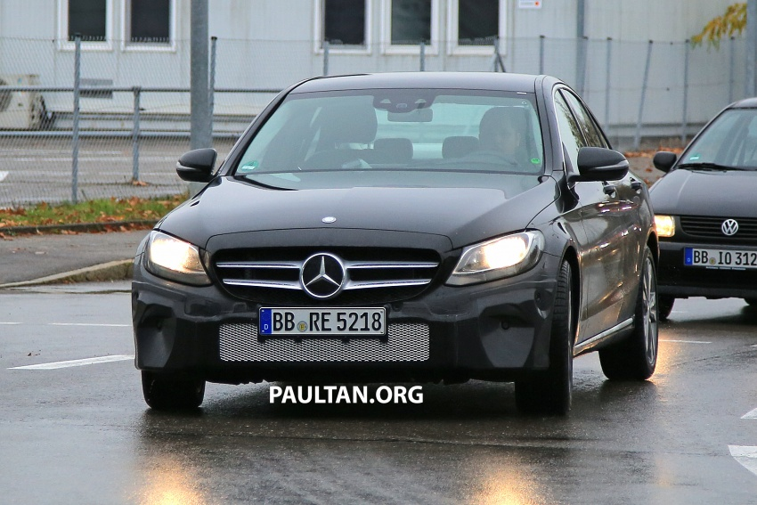 SPIED: W205 Mercedes C-Class facelift – interior seen Image #585286