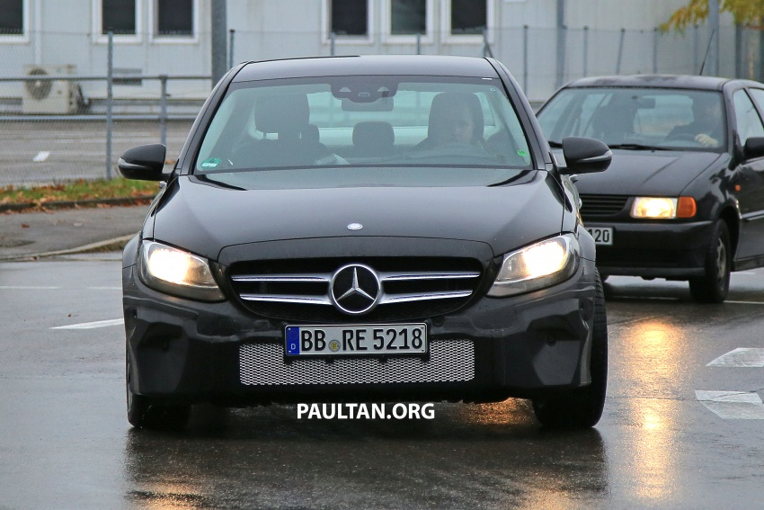 SPIED: W205 Mercedes C-Class facelift – interior seen Image #585287