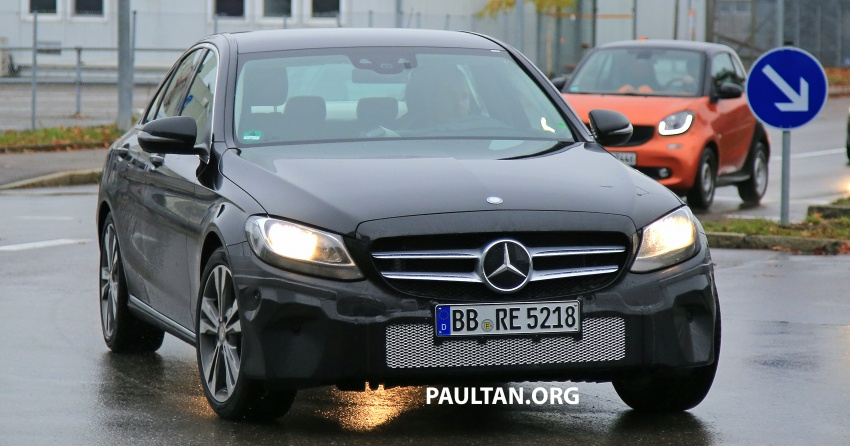 SPIED: W205 Mercedes C-Class facelift – interior seen Image #585288