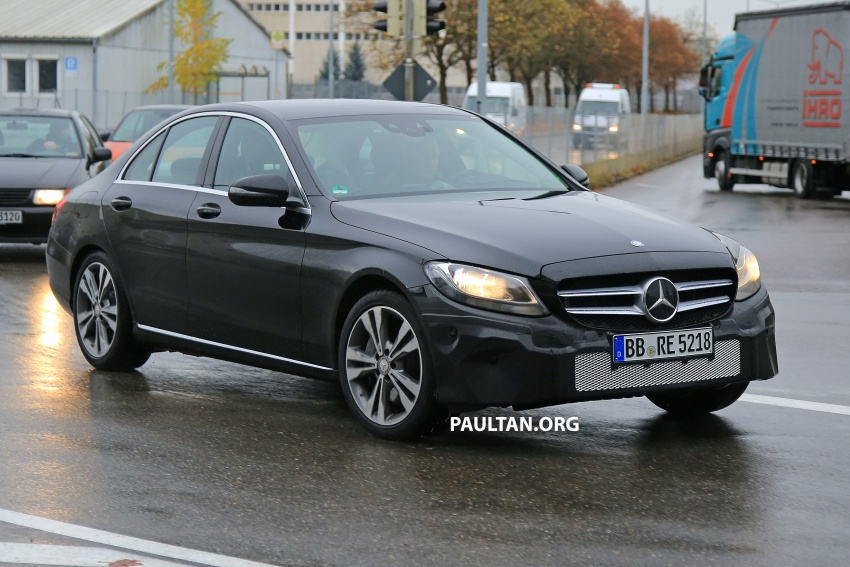 SPIED: W205 Mercedes C-Class facelift – interior seen Image #585289