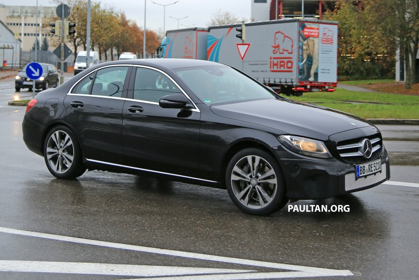SPIED: W205 Mercedes C-Class facelift – interior seen Image #585290